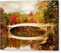 Acrylic Print featuring the photograph Bow Bridge Reflected by Jessica Jenney