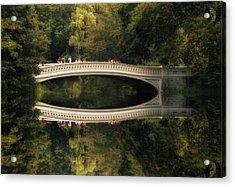 Bow Bridge Reflections Acrylic Print by Jessica Jenney