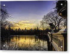 Bow Bridge Sunrise Acrylic Print