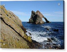 Bow Fiddle Rock In Scotland Acrylic Print by John Kelly