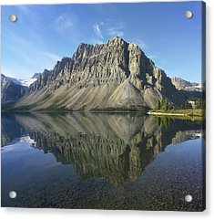 Bow Lake And Crowfoot Mts Banff Acrylic Print by Tim Fitzharris