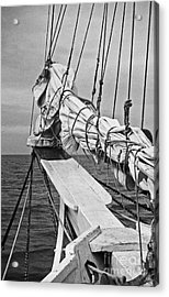 Bow Sprit In Bnw Acrylic Print