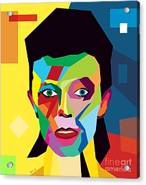 David Bowie Acrylic Print by Mark Ashkenazi