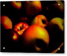 Bowl Of Apples Acrylic Print by Bob Orsillo