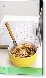 Bowl Of Cereal Acrylic Print by Science Photo Library