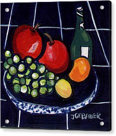 Acrylic Print featuring the painting Bowl Of Fruit 1 by Joyce Gebauer