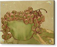Bowl Of Grapes Acrylic Print