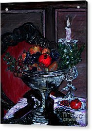 Bowl Of Holiday Passion Acrylic Print by Helena Bebirian