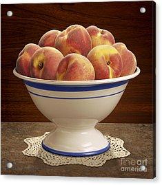 Bowl Of Peaches Acrylic Print by Danny Smythe