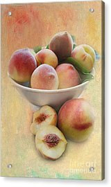 Bowl Of Peaches Acrylic Print