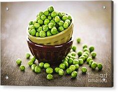 Bowl Of Peas Acrylic Print by Elena Elisseeva