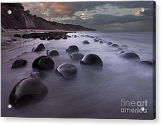 Bowling Ball Beach At Sunrise Acrylic Print by Keith Kapple