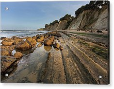 Bowling Ball Beach Near Point Arena Acrylic Print by Chuck Haney