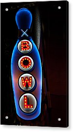 Bowling Pin Sign Acrylic Print