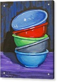Bowls Acrylic Print