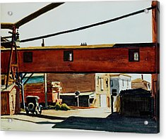 Box Factory Acrylic Print by Edward Hopper