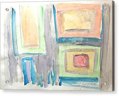Acrylic Print featuring the painting Box In Box by Esther Newman-Cohen