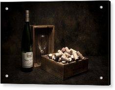 Box Of Wine Corks Still Life Acrylic Print by Tom Mc Nemar