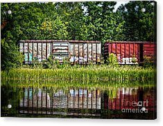 Boxcar Reflection Acrylic Print