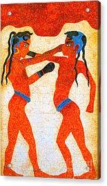 Boxer Boys Painting Acrylic Print by Antony McAulay
