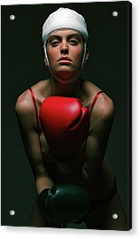boxing Girl 2 Acrylic Print by Evgeniy Lankin