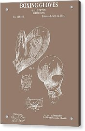 Boxing Gloves Illustration Acrylic Print by Dan Sproul