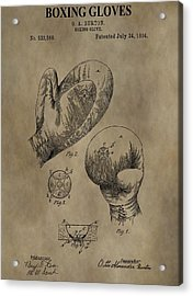 Boxing Gloves Patent Acrylic Print by Dan Sproul