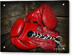 Boxing Gloves Acrylic Print by Paul Ward