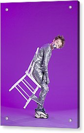 Boy Bound By Duct Tape Acrylic Print by Ron Nickel