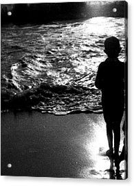 Acrylic Print featuring the photograph Boy By The Sea by Estate of Frank Dohnalek