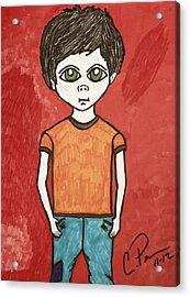 Boy Acrylic Print by Chrissy  Pena