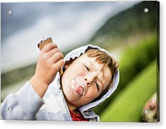 Boy Holding Ice Cream Acrylic Print by Samuel Ashfield