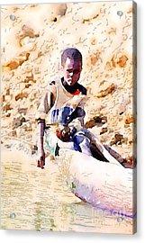Boy In The Boat Acrylic Print