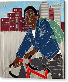 Boy On A Bike Acrylic Print