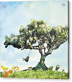 Boy On A Swing Acrylic Print by Linde Townsend
