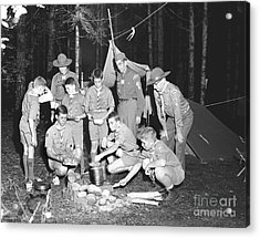 Acrylic Print featuring the photograph Boy Scouts Campout 1962 Ca by Merle Junk