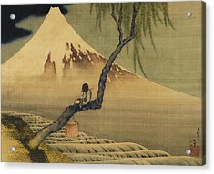 Boy Viewing Mount Fuji Acrylic Print