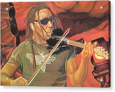Boyd Tinsley At Red Rocks Acrylic Print by Joshua Morton