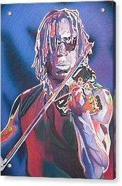 Boyd Tinsley Colorful Full Band Series Acrylic Print by Joshua Morton