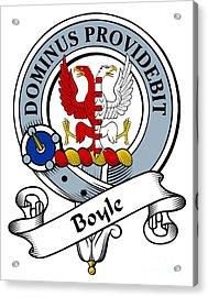 Boyle Clan Badge Acrylic Print by Heraldry