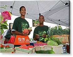 Boys At A Farmers Market Acrylic Print
