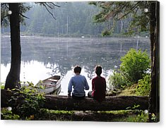 Acrylic Print featuring the photograph Boys At Beebe Pond by Paul Miller