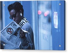 Boys Don`t Cry (from The Series new York Blues) Acrylic Print