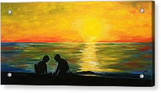 Boys In The Sunset Acrylic Print
