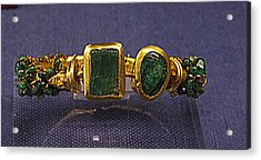 Bracelet With Emeralds Acrylic Print by Andonis Katanos