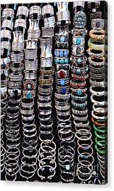 Bracelets At Anjuna Market Acrylic Print by Robert Preston