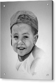 Acrylic Print featuring the drawing Braden by Jessica Tookey