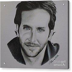 Bradley Cooper Acrylic Print by Christy Bruna