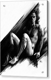 Acrylic Print featuring the drawing Bradley by Paul Davenport
