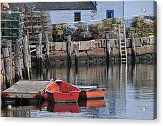 Bradley Wharf Dinghies Acrylic Print by Mike Martin